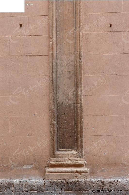 欧式建筑花纹柱子墙面