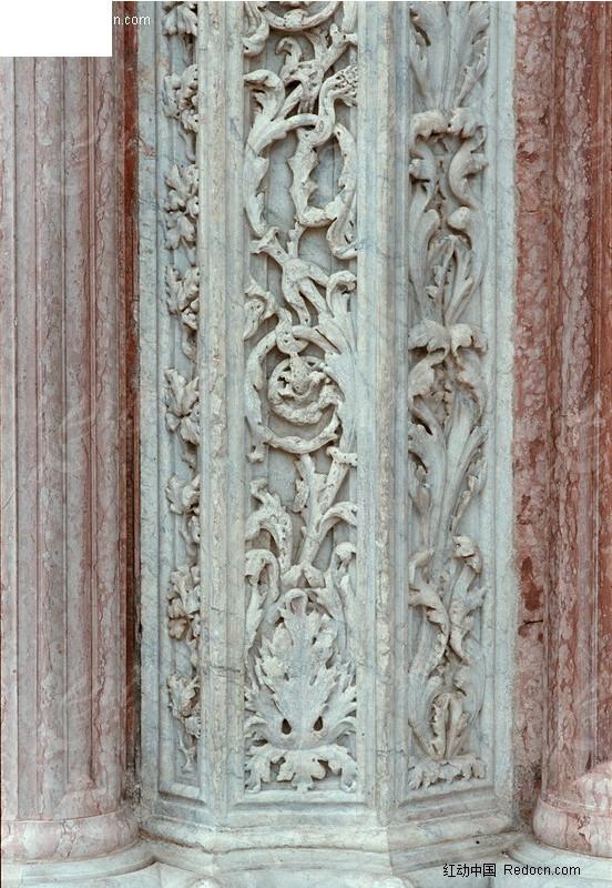 欧式建筑花纹柱子