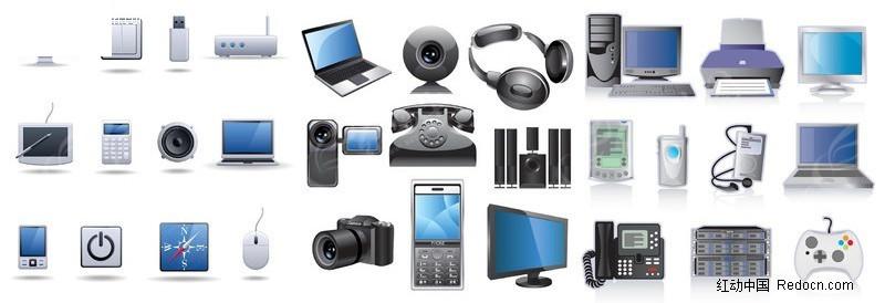数码科技产品图标矢量素材图片