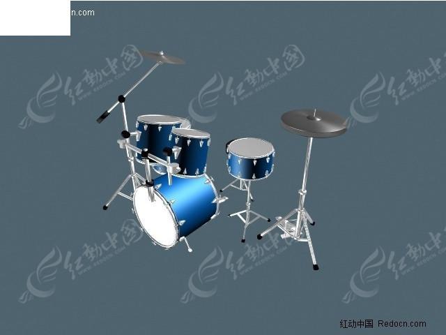 架子鼓3d模型图片