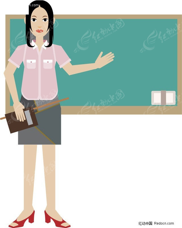 插画-女老师