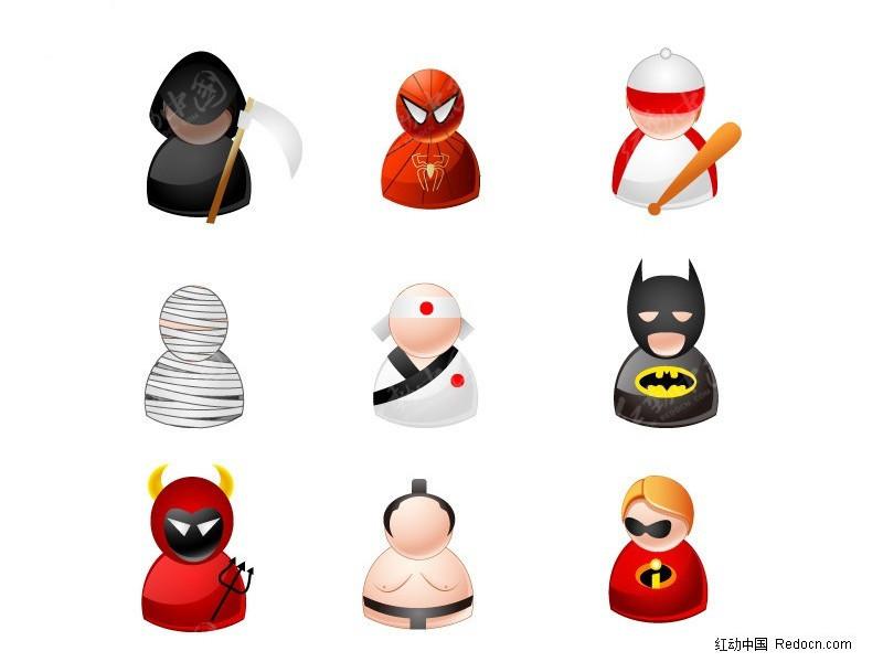 大肉棒的愹ai_蜘蛛侠人物图标矢量ai素材免费下载_红动网