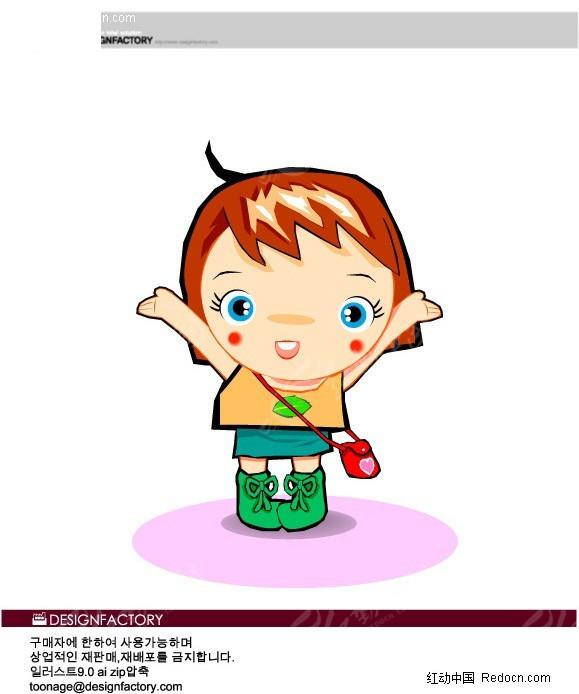 插画-背书包的小孩ai免费下载_儿童幼儿素材
