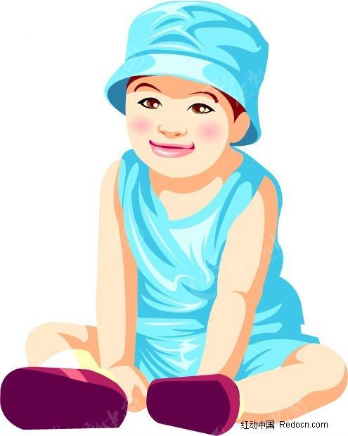 帽子 小男孩 插画 手绘 人物素材 少年儿童图片 插画人物 矢量素材