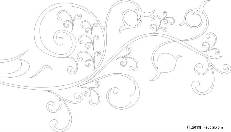 自画花纹CDR免费下载 花纹花边素材