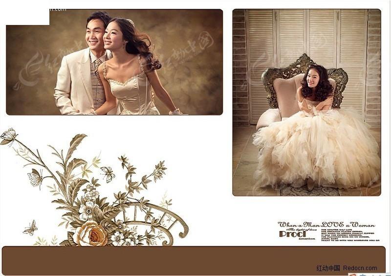 韩城恋人婚纱照相册设计图片