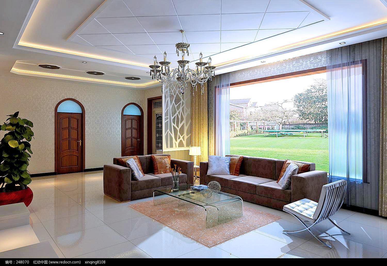 客厅效果图欣赏 室内设计高清图片