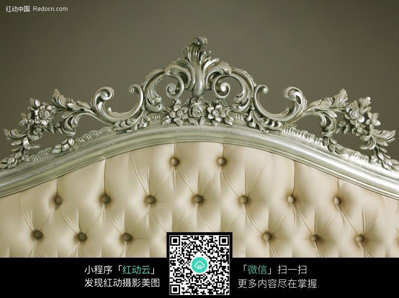 欧式风格的沙发背局部特写图片图片