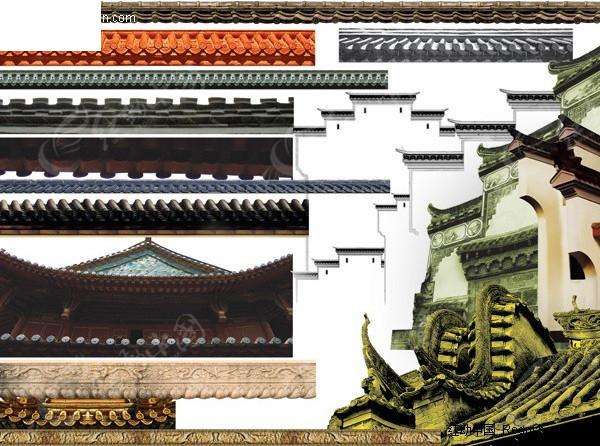 中式屋檐素材图片图片
