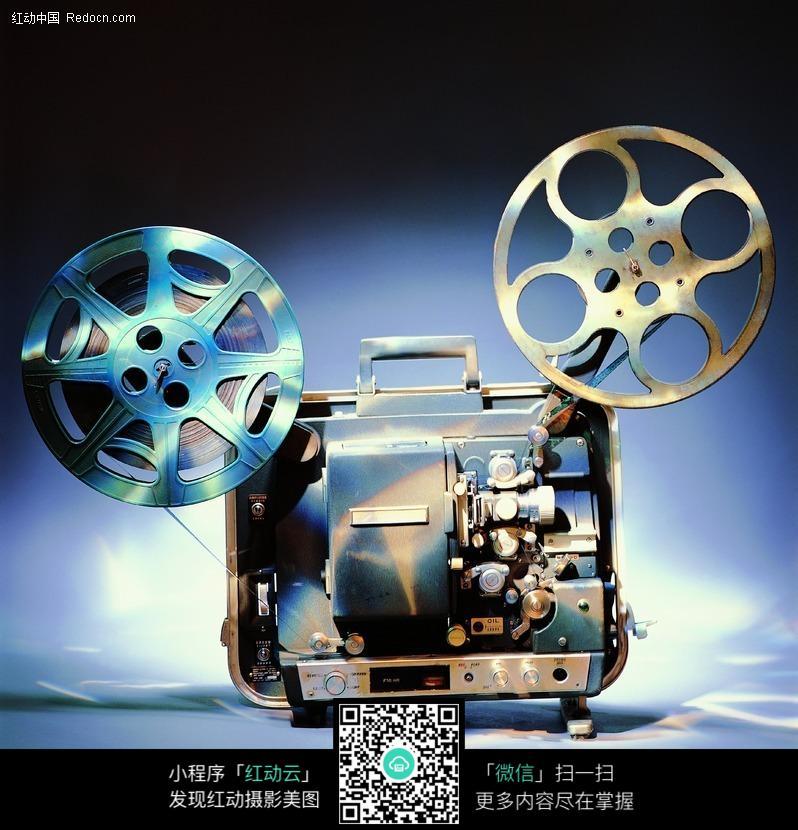 老式胶片电影放映机图片