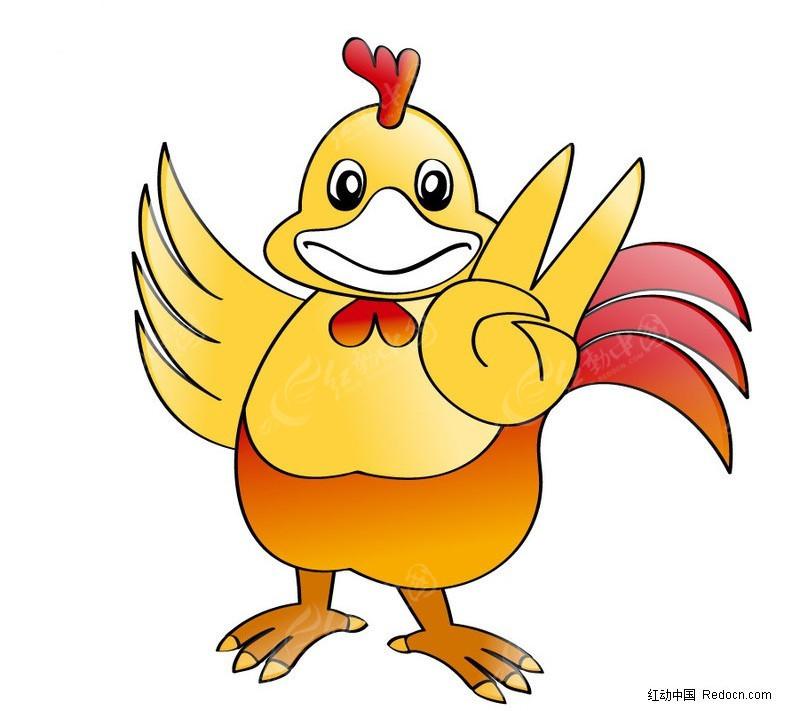 公鸡简笔画彩色