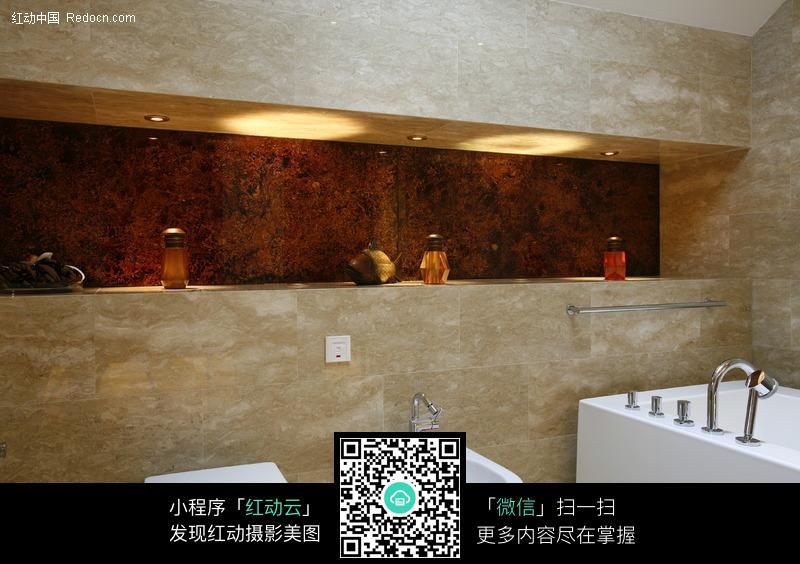洗手间一角_室内设计图片_编号252250_红动网