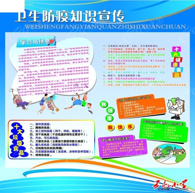 卫生防御知识宣传展板图片