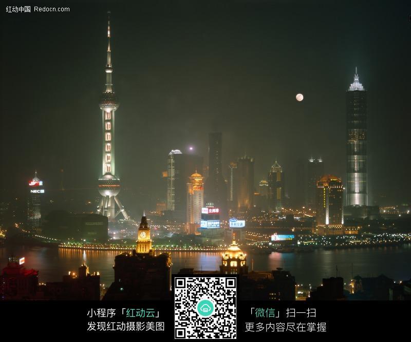 上海东方明珠塔夜景图片_城市风光图片