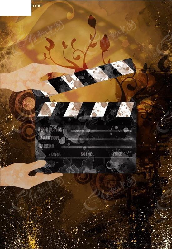 电影开拍-音乐主题背景图片