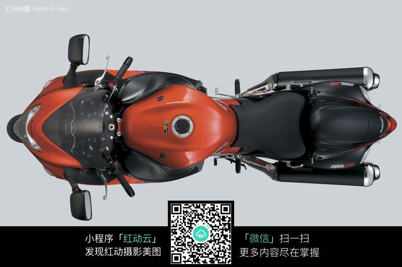 铃木隼摩托车俯视图图片