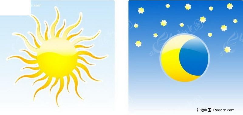 太阳形象的海报手绘