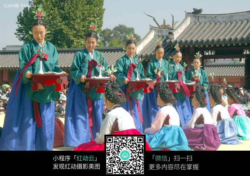 韩国古代节日盛典图片-人物图片素材|图片库|图
