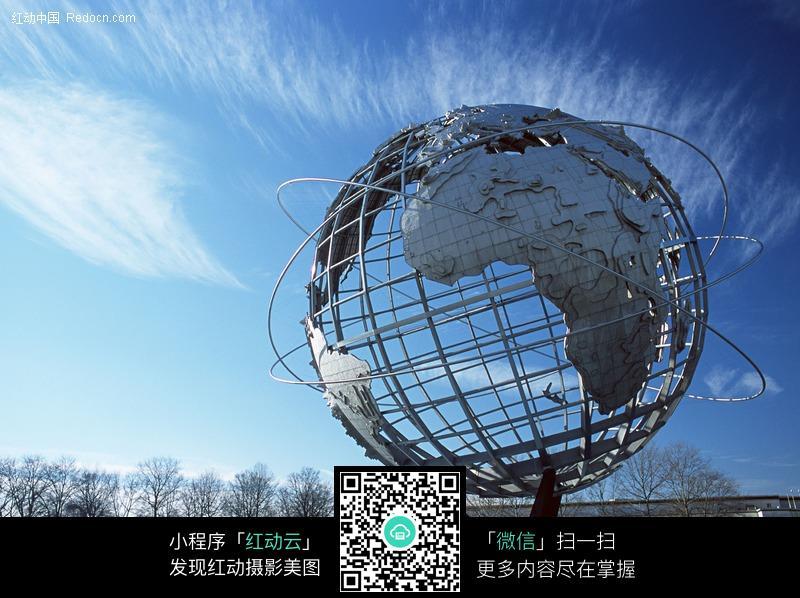 美国纽约地球雕塑图片_建筑设计图片