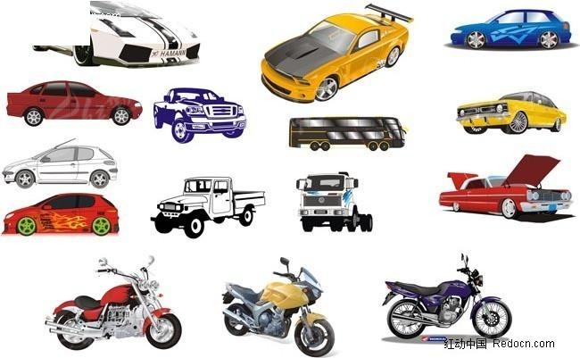 矢量赛车vs摩托车cdr素材免费下载_红动网