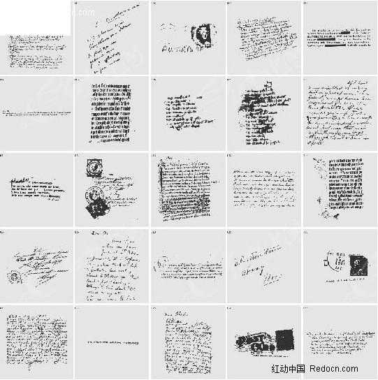 英文手写信件字体图片