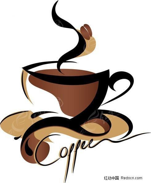 咖啡杯简笔画图片