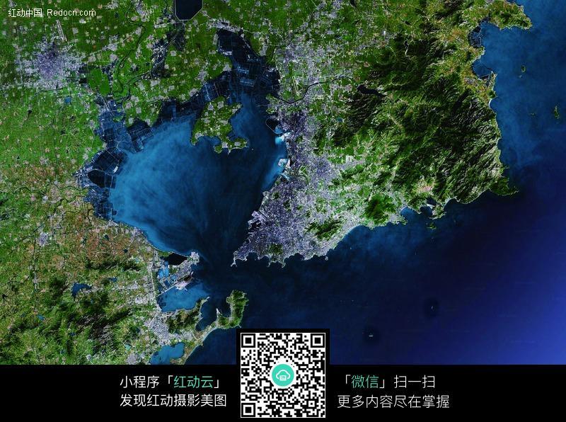青岛地形卫星地图高清图片