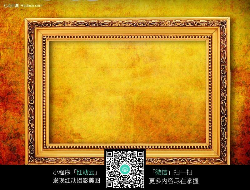 复古背景上的金色欧式相框图片图片