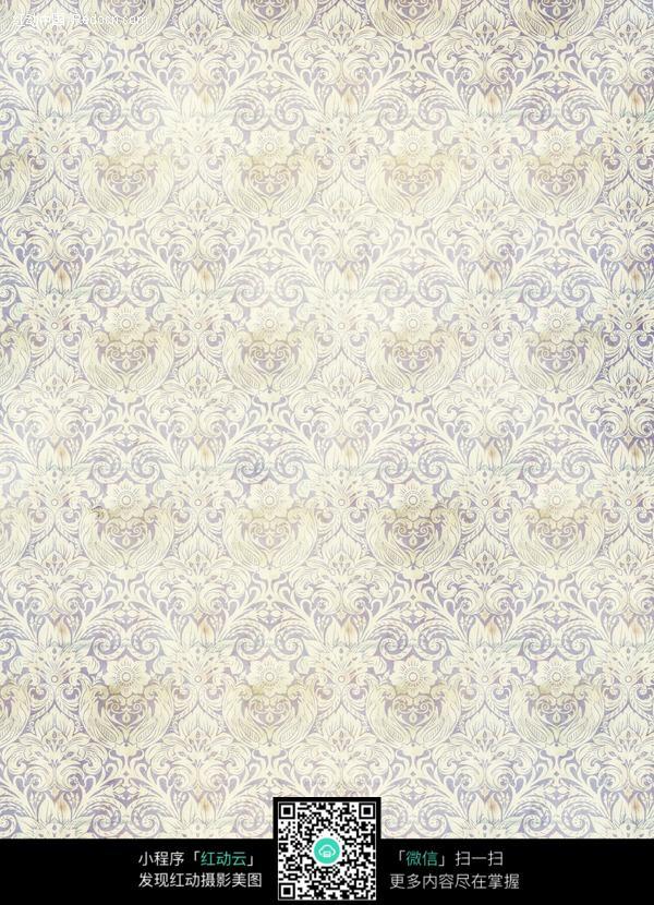 欧式花纹背景墙纸图片