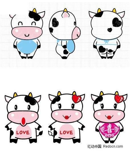 牛图片大全可爱可爱呆萌牛卡通头像 可爱牛图片图图片