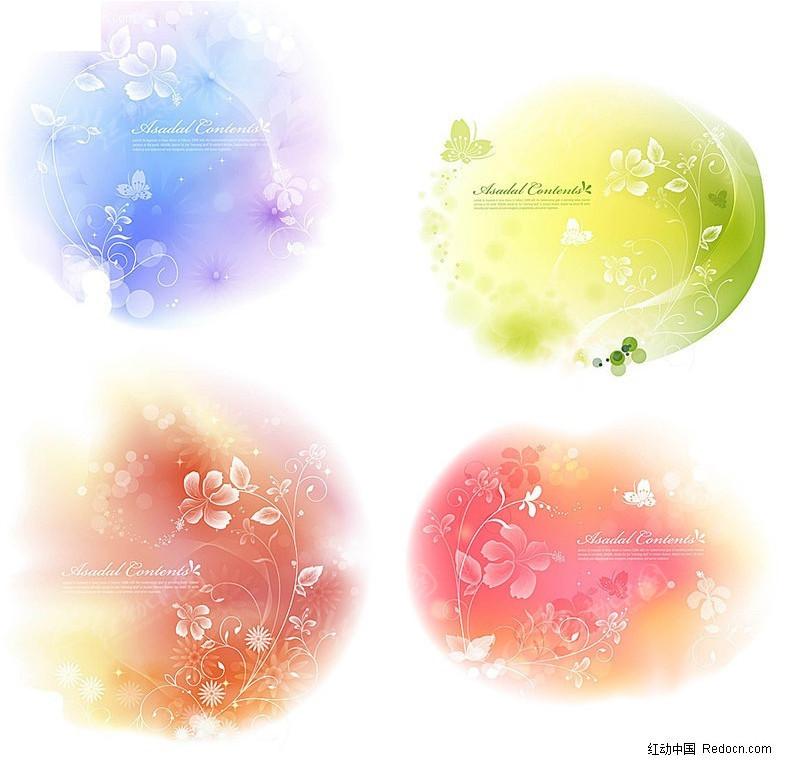 透明花纹梦幻背景图片