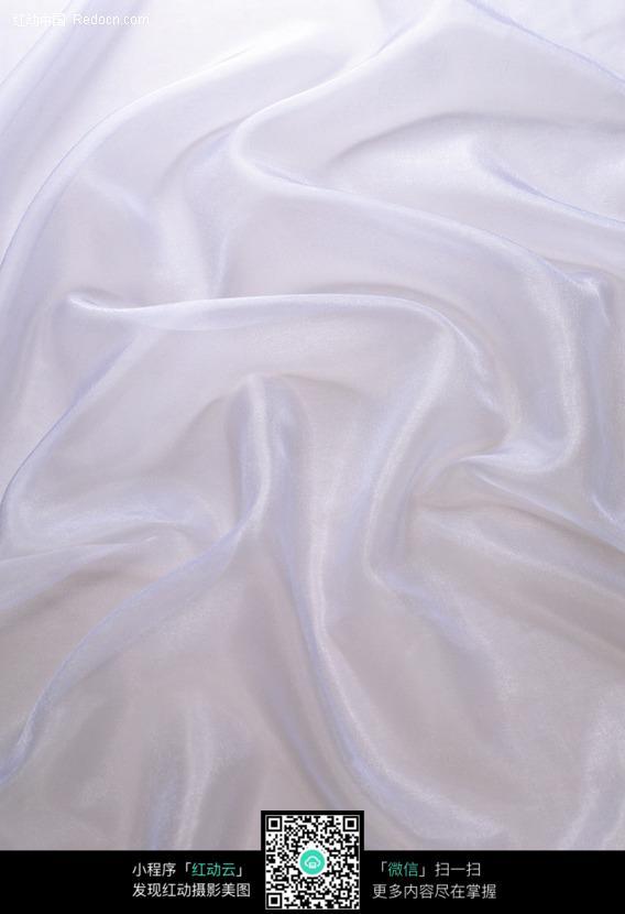 褶皱的白色绸缎背景图片 265661