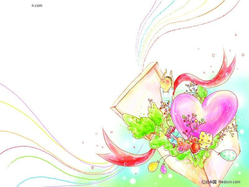 手绘礼物盒插画图片