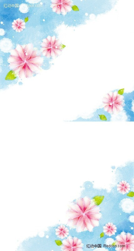 手绘涂鸦风格的花背景