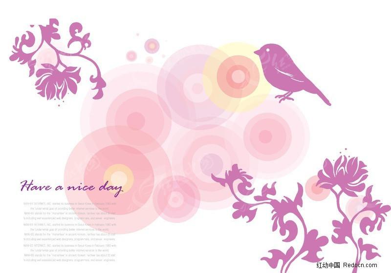 花鸟手绘图背景