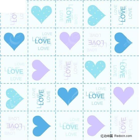 浪漫心形love包装纸图片