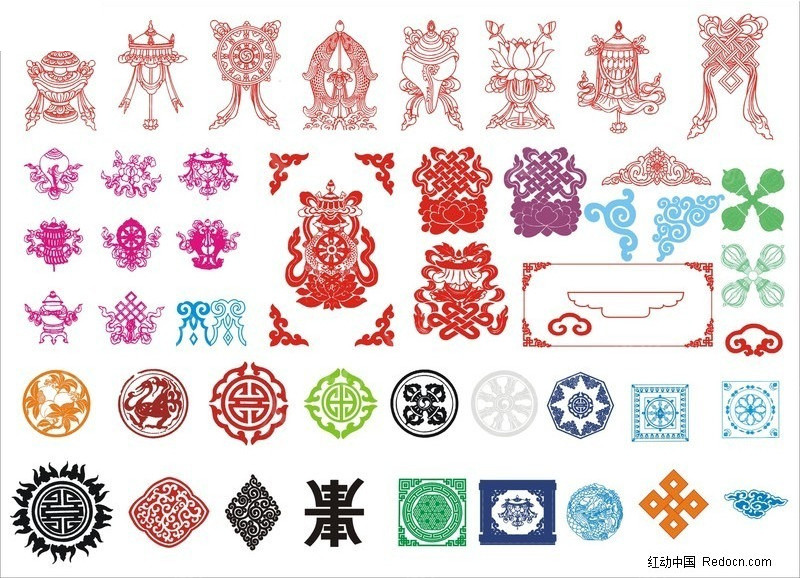 西藏传统图案素材图片