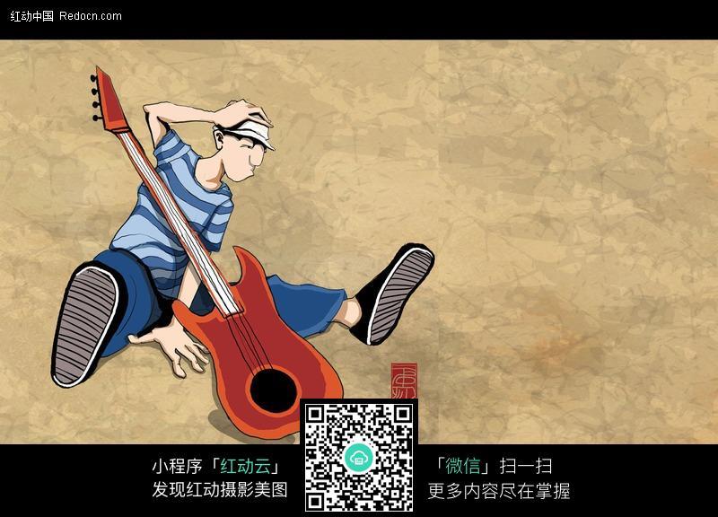 舞动-卡通吉他手图片