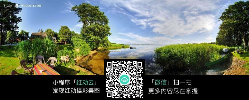 360全景图-湖畔别墅
