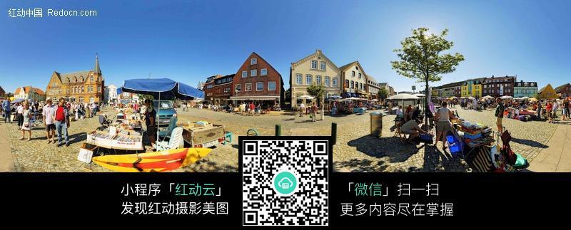 360全景图-海边小镇风景区图片