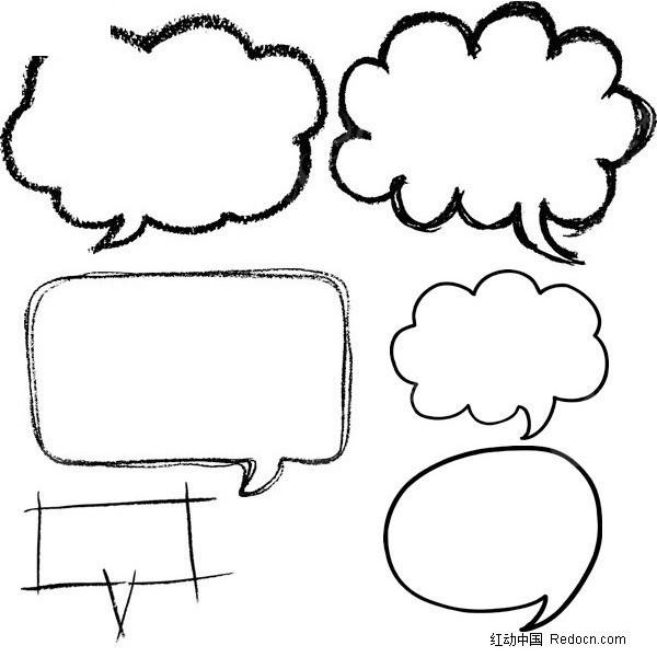 卡通对话框矢量图_边框相框