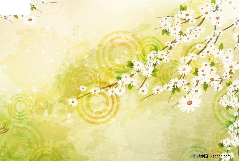 白色小花背景素材