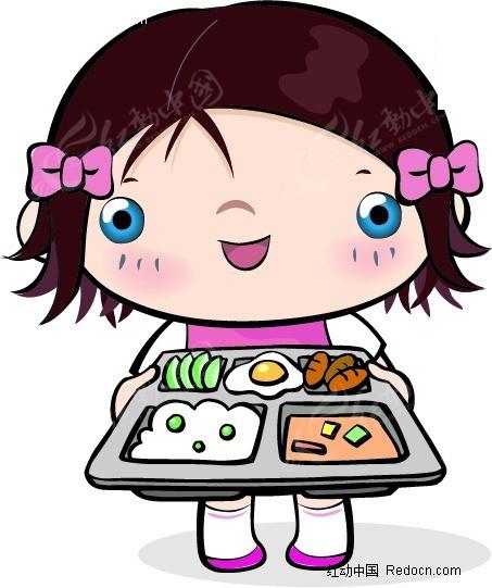 小女孩端午餐EPS免费下载 儿童幼儿素材