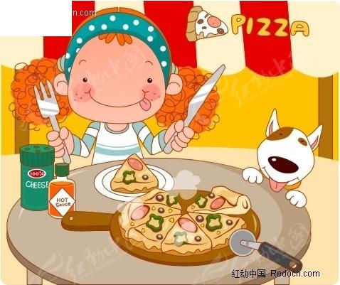 儿童画画图片披萨