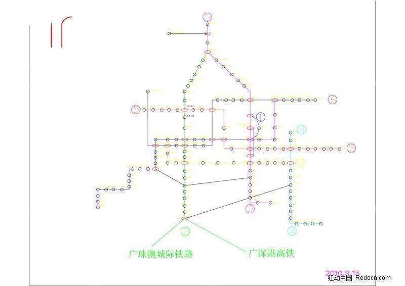 020广州地铁路线图图片
