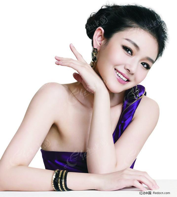 封面美女素材 紫色美女图片图片
