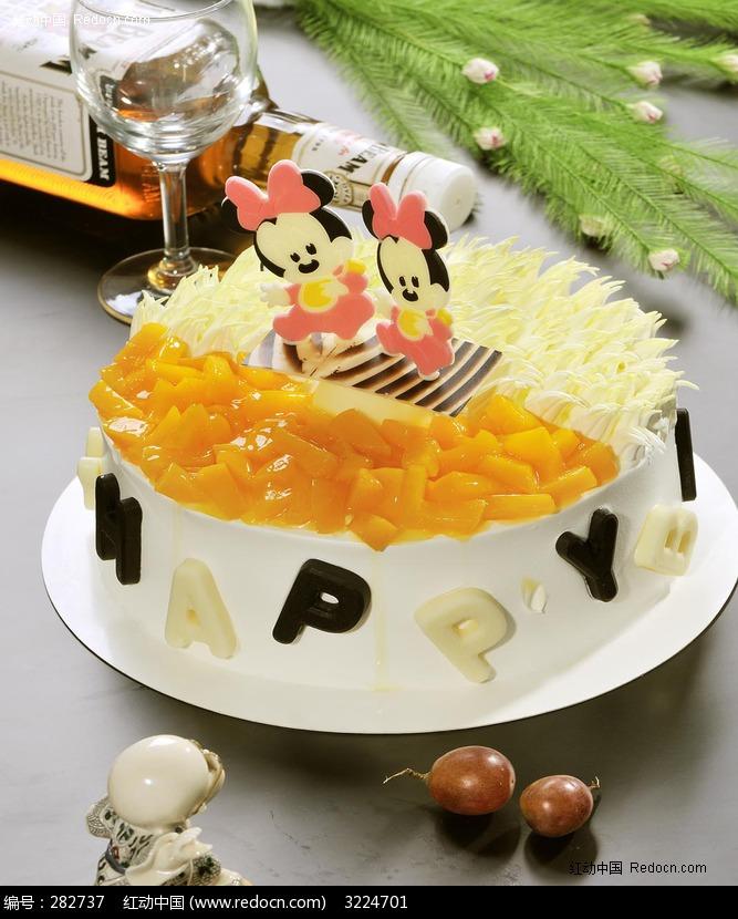 卡通米老鼠蛋糕图片