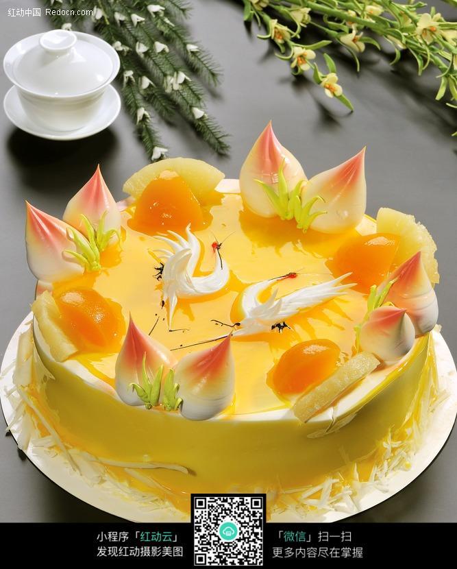 寿桃蛋糕图片