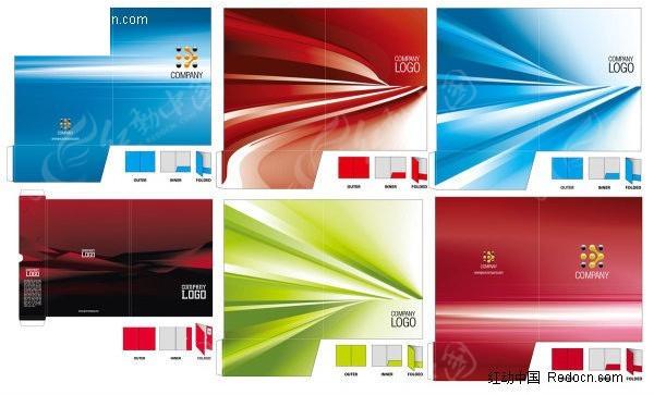 几款公司文件夹封面设计矢量素材