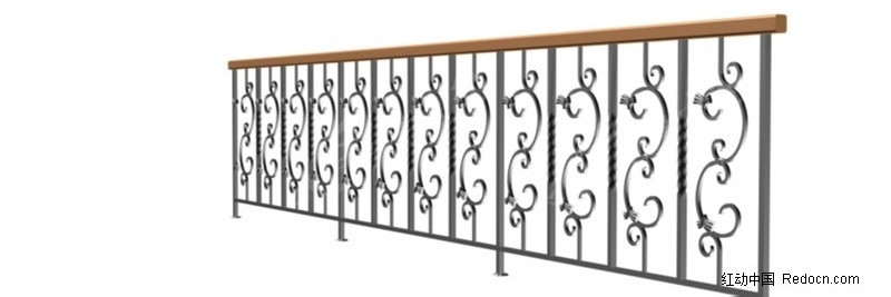 铁木栏杆图片